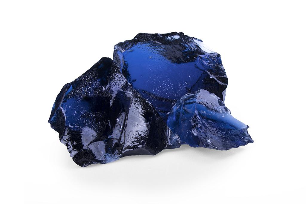Gabionensteine Glas Blue 50-120 mm