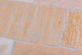 Terrassenplatte Quarzit 25x50x2-4 cm gelblich-bunt