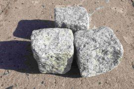 Neues Granit Kleinpflaster 8-11 cm Mittelkorn grau getrommelt