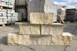Sandmauerstein 20x20x40 cm 4-seitig gesägt