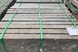 Basalt Kantenstein 6x25x100 cm anthrazit gespalten/gesägt