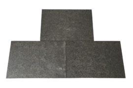 Basalt Terrassenplatte 40x60x3 cm anthrazit-schwarz