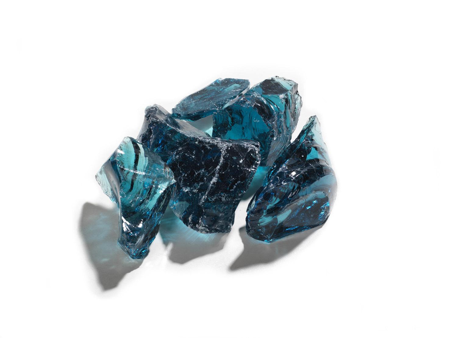 Gabionenstein Glas Eisblau 70-120 mm gebrochen
