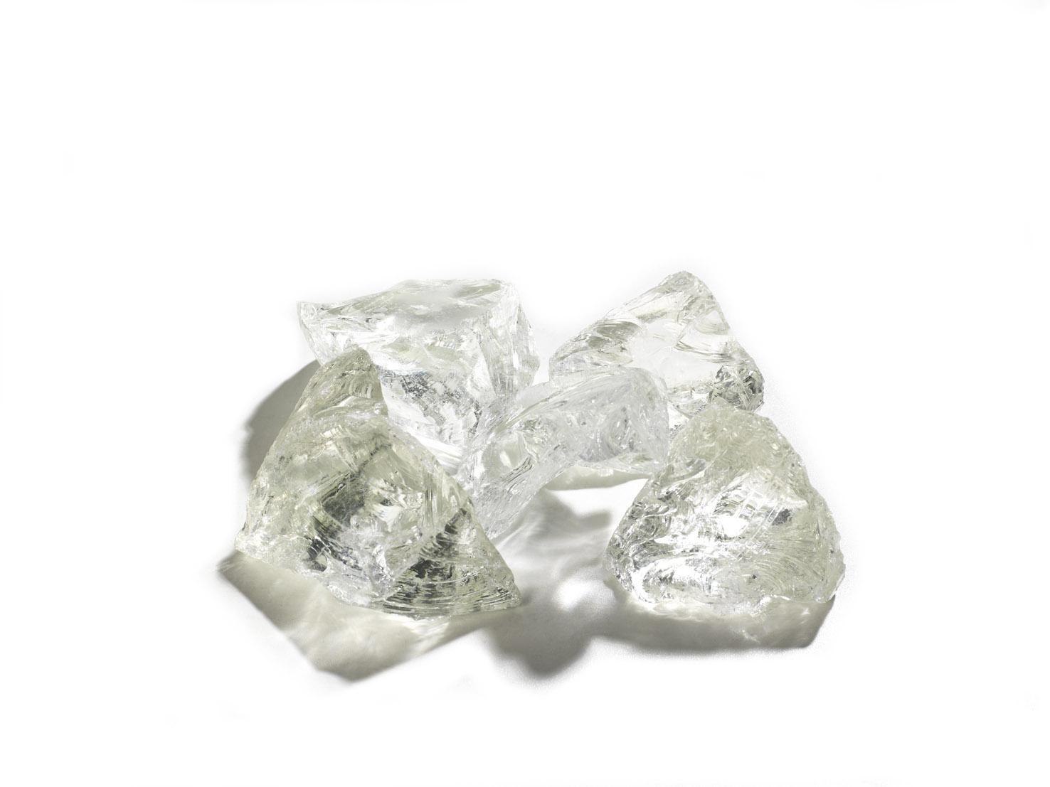 Gabionenstein Glas Weiß 70-120 mm gebrochen