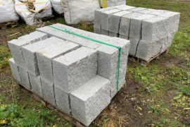 Granit Mauerstein 20x30x40 cm grau 4-seitig gesägt