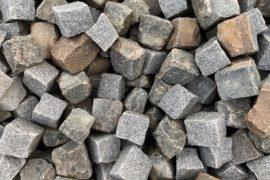 Gebrauchtes Granit Kleinpflaster 8-11 cm bunter Mix