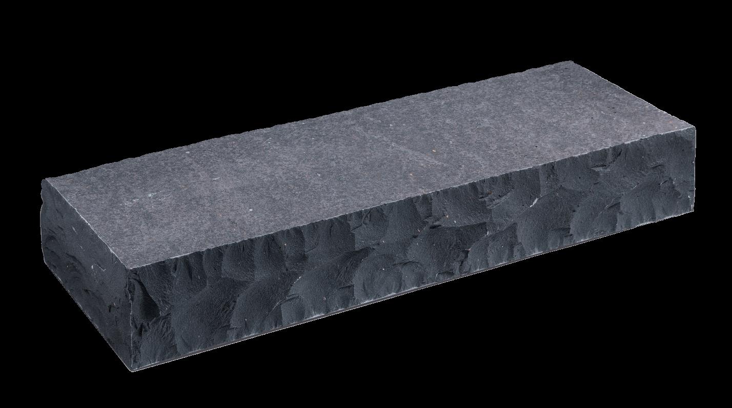 Basalt Blockstufe 15x35x100 cm anthrazit bossiert