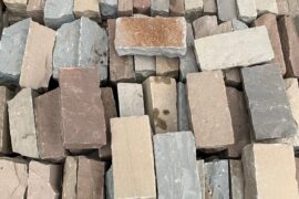 Quarz-Sandstein Kleinpflaster 20x10x4-8 cm Toskana