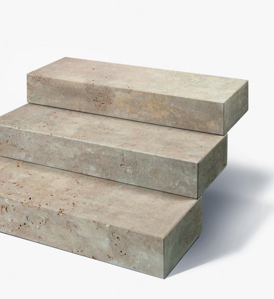 Travertin Blockstufe 15x35x100 cm bräunlich
