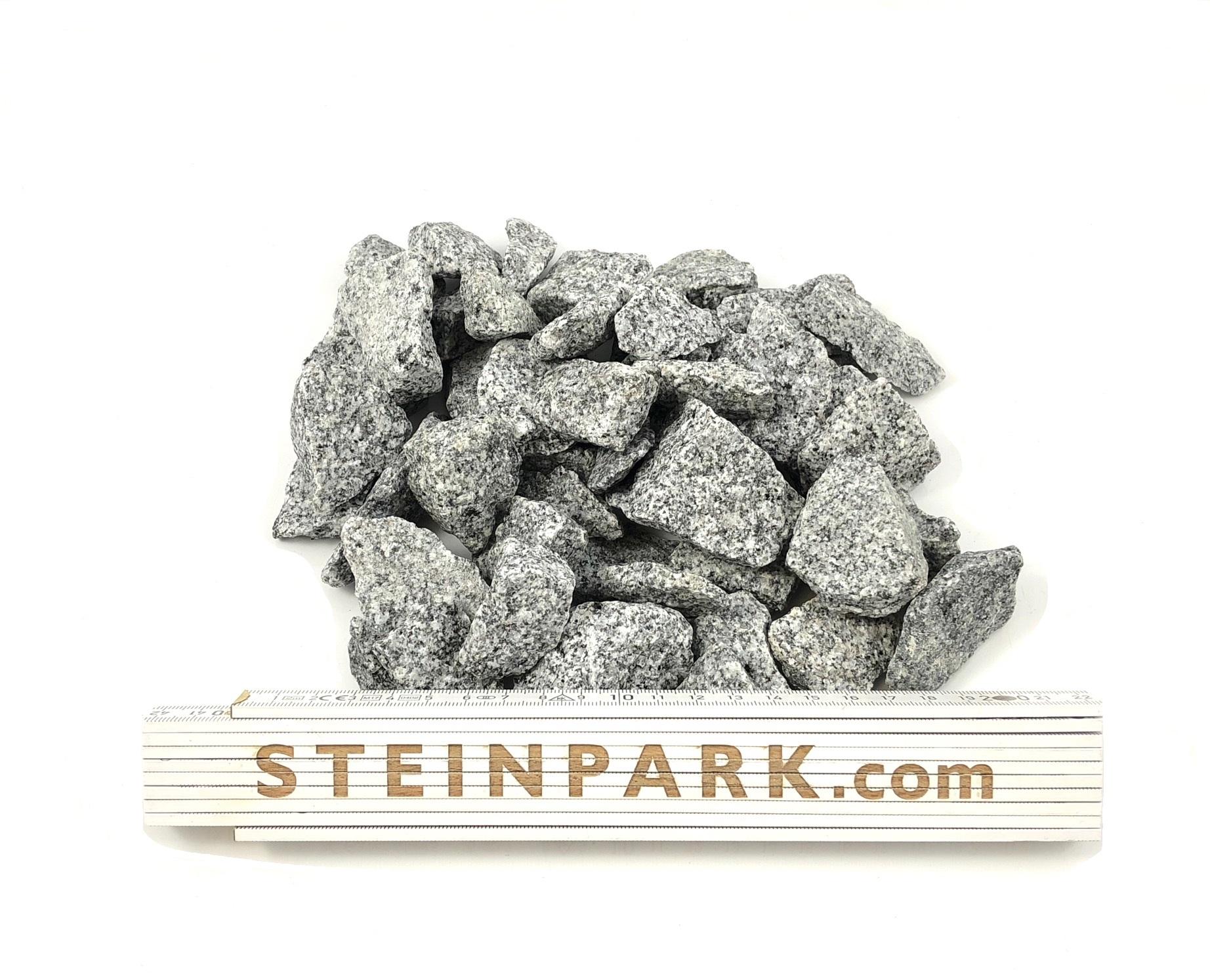 Ziersplitt Granit Silver Gris 8-16 mm hellgrau