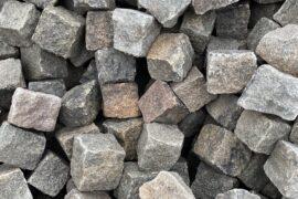 Granit Kleinpflaster gebraucht 8-10 cm grau-rot-bunt