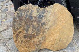 Quarz-Sandstein Trittplattenplatten ca. 40-60×30-40×2,5-4 cm mint-gelb-grünlich