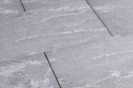 Keramik Terrassenplatte 80x40x2 cm Black Rock anthrazit-gebändert