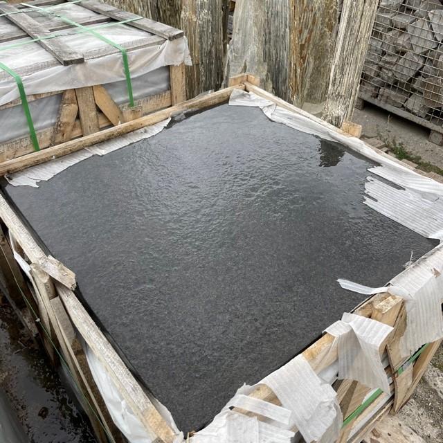 Granit Terrassenplatte 80x80x3 cm anthrazit-dunkel RESTPOSTEN