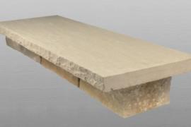 Sandstein Mauerabdeckung 100x30x5 cm gelblich